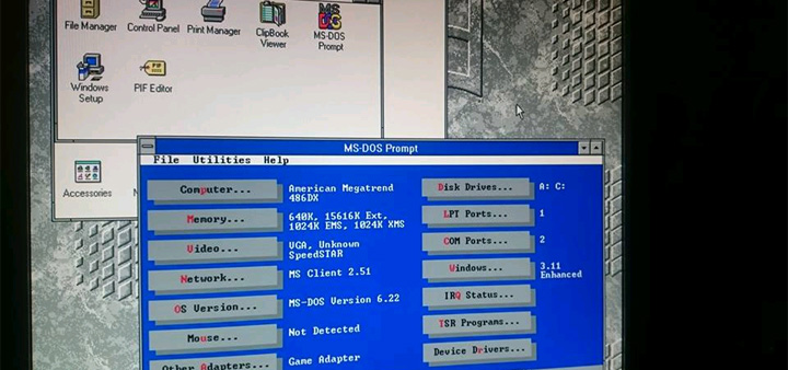 Everything seemed to come together decently and I now have a 486 PC with  MS-DOS 6.22 and Windows 3.11 for Workgroups. I'll include some additional  build ...